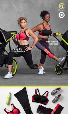 You'll get by (and look fly) with a little help from C9 Champion capri leggings and sports bras. Made with comfortable, form-fitting compression fabric, the support is endless. And seamless. Introducing a new kind of strong. Only at Target.