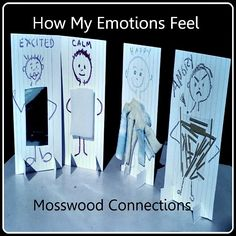 "How My Emotions Feel - Some children connect their feelings best with words, others like colors or drawing or music. This activity is for those kids who like different textures. They will enjoy learning to feel their feelings with these Texture People After all, when describing one's feelings how often are the words ""smooth"" or ""prickly"" used? Children can make these texture people to help describe and integrate their emotions. Then they can have fun pretending with their creations. emotio"