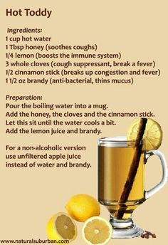 Natural cold remedy - use apple juice base. Want to remember that cloves and cinn sticks help w fever. by lukejan28