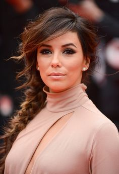 Pin for Later: The Most Glamorous Cannes Beauty Looks of All Time Eva Longoria, 2014 Eva paired her textured plait with a dark smoky eye at the Foxcatcher premiere, resulting in a look that would look stunning for date night.