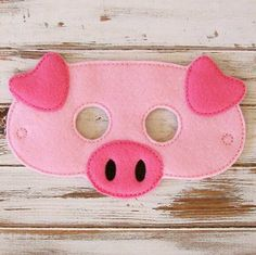 Children's Felt Pig Mask (7.99 USD) by LilPitPat