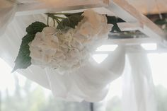 We created a beautiful wedding styling using only white hydrangeas, candles and linen. This created the perfect romantic style for a summer wedding reception. This ladder is the perfect statement piece to hang above the bridal table. Wedding Shoot, Wedding Reception, Our Wedding, Dream Wedding, Large Candles, Pillar Candles, White Hydrangeas, Bridal Table, Romantic Look