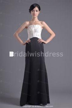 Floor-Length Satin Strapless Plus Sizes Special Occasion Dresses -Special Occasion Dresses