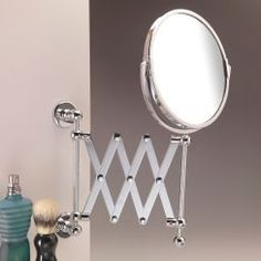 This shaving mirror will make a practical addition to any bathroom