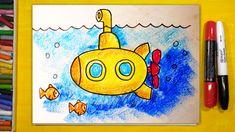Как нарисовать ПОДВОДНУЮ ЛОДКУ, Урок рисования для детей от 3 лет | Раск...