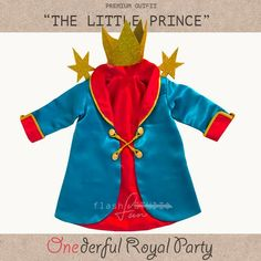 c449366a1f The Little Prince custom outfit, prince costume, boy first birthday outfit,  birthday clothes, gold p