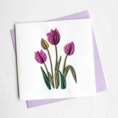 Purple Tulip BL919 6 x 6 von QuillingCard auf Etsy