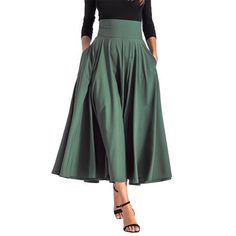 Long Skirts For Women, Skirts For Sale, Long Maxi Skirts, Pleated Maxi, Casual Skirts, Bandage Skirt, Skirts With Pockets, Skirt Outfits, Full Skirt Outfit