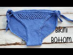Cómo tejer la parte de abajo del bikini en dos agujas: braguita, calzón - YouTube