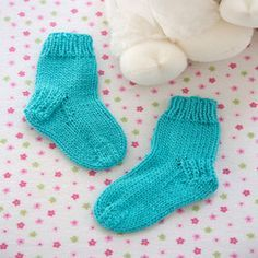 Comfy Baby Socks Easy level knit