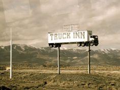 Vintage Truck Stop sign