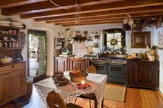 Gorgeous traditional rustic Christmas decor in Czech Republic