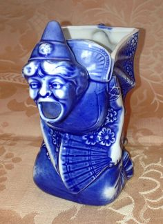 Craziest Creamer Ever Made! Antique, Japanese Aesthetic Screaming Witch. Schafer and Vater, Germany. You must see it! http://etsy.me/1qRSVPx