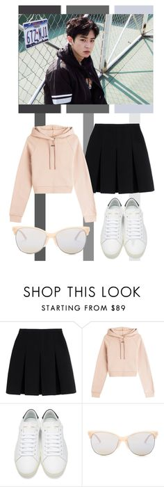 """""""Park Chanyeol / Tag"""" by tanbo ❤ liked on Polyvore featuring Alexander Wang, Off-White, Yves Saint Laurent, Smith Optics, country, someday, hearteyesemoji, kpopsistar and pottertrash"""