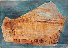 """RIGMOR HOLTER SON 1906 - 2004 """"Gylden form"""" 1965 Akvarell på papir, 30x41 cm (P) Signert og datert nede til høyre: Rigmor Holter 65 Painting, Art, Art Background, Painting Art, Kunst, Paintings, Performing Arts, Painted Canvas, Drawings"""