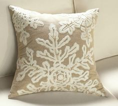 Snowflake pillow - Pottery Barn