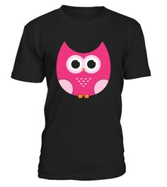 Cartoon Pink Owl  #gift #idea #shirt #image #funny #thankinggiving #heart  #art  #bestfriend #mother #father #new #birthday #christmas