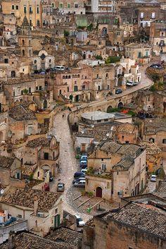 Sassi di Matera, in Matera, province of Matera, Basilicata region, Italy.