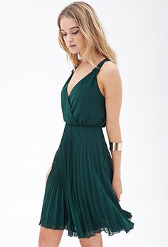 Pleated Chiffon Dress | FOREVER 21 - 2000121712