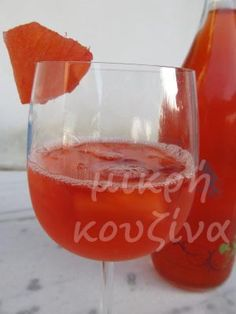 Ρώσικη σανγκρία (ποτό φράουλα-ανανάς) Wine Glass, Alcoholic Drinks, Tableware, Blog, Dinnerware, Tablewares, Liquor Drinks, Blogging, Alcoholic Beverages