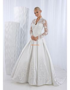 Hof-Schleppe Glanz & Glamour Elegant & Luxuriös Brautkleider 2014