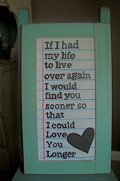 If I'd only found you earlier...