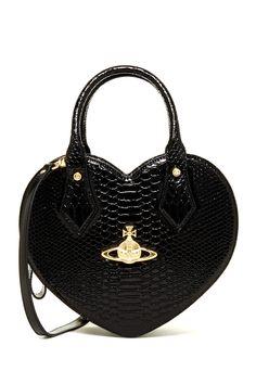 Vivienne Westwood   Embossed Leather Heart Handbag   HauteLook