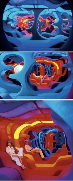 Saw this at an Exhibition years ago at the Design Centre, still want a room like that in my house! Verner Panton, Visiona / Selected by www.20emesiecle.be