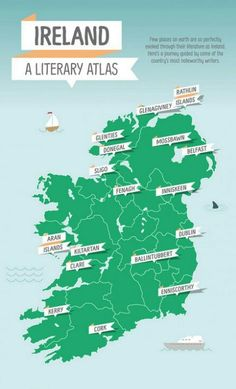 Ireland: A Literary Atlas Ireland Map, Ireland Travel, Anchor Books, England Ireland, Donegal, Where The Heart Is, Northern Ireland, Vintage Books, Writing Tips