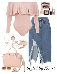 """""""Blushing"""" by styledbykourt ❤ liked on Polyvore featuring Red Camel, Olivia Burton, Kate Spade, Givenchy, Charlotte Russe, Cynthia Rowley, Tory Burch, Bobbi Brown Cosmetics, Laura Mercier and Clinique"""