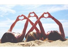 Three Person Heart Pictures, Beach Pictures