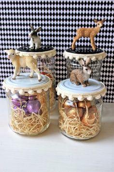 Tolle Idee zu Ostern aus alten Einweckgläsern. Noch mehr Ideen gibt es auf www.Spaaz.de