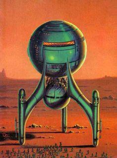 Vintage Style Sci Fi Art Tutorial Drawing
