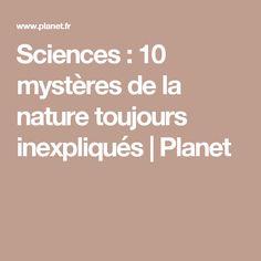Sciences : 10 mystères de la nature toujours inexpliqués | Planet