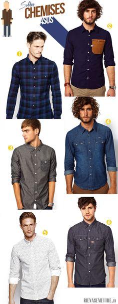 Notre sélection de chemises ASOS pour Homme http://www.rienasemettre.fr/2014/01/soldes-craquez-pour-les-chemises-asos-pour-homme/