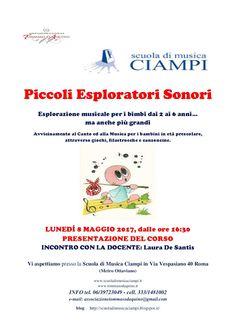 Scuola di Musica Ciampi BLOG: PICCOLI ESPLORATORI SONORI - app.to 8 maggio