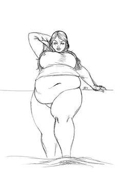 Bbw curvy drawing art