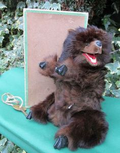 Video Roullet Decamps Growling Noise Bear Automaton  original box key 1910 bing