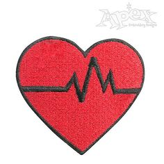 """Nurse or Doctor Heart Embroidery Designs. You Get two Designs. Both Size: 3.35"""" x 3"""""""