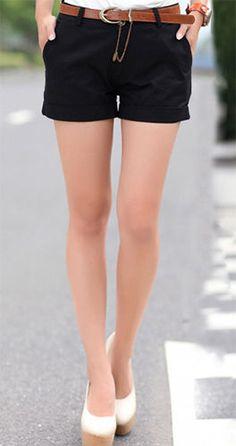 pantalone shorts donna moda estate casual sportivo cotone pantaloncino corto