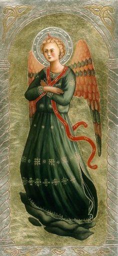 'Angel - Artist Malvina Wojcik. / Anioł - from http://www.touchofart.eu/Malwina-Wojcik/mw61-Aniol/