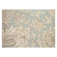 Buy William Morris Chrysanthemum Rug, Blue Online at johnlewis.com