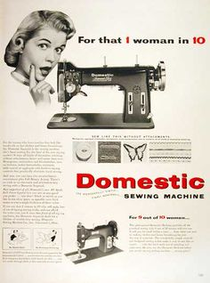 Vintage Sewing Machine ads