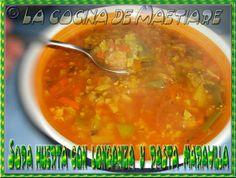 La cocina de Maetiare: Sopa huerta con longaniza y pasta maravilla