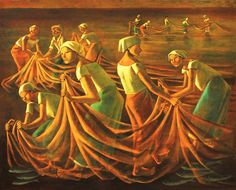View Fish Harvest at Dawn by Anita Magsaysay-Ho on artnet. Browse upcoming and past auction lots by Anita Magsaysay-Ho. Artist Painting, Painting & Drawing, Filipino Art, Web Gallery Of Art, Philippine Art, Vintage Artwork, Artists Like, Asian Art, Oil On Canvas