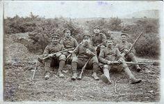 German soldiers having a smoke.