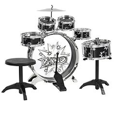 Best Choice Products 11 Piece Kids Drum Set  Kids Toy Musical Instrument W/ Bass Drum, Tom Drums, Cymbal, Stool, Drumsticks Drum Kit *** Details can be found at