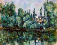 Paul Cézanne - Banks of the Marne, 1888-90 #arte