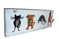 Garderoben - Kindergarderobe Tiermotiv im Shabby Stil - ein Designerstück von Linda-Thom-Lillis-Handcraft bei DaWanda