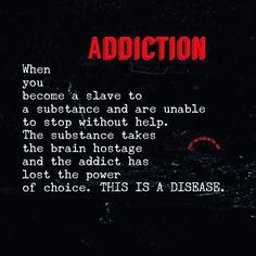 #Addiction is a chronic and progressive disease. But it is treatable. Call today…